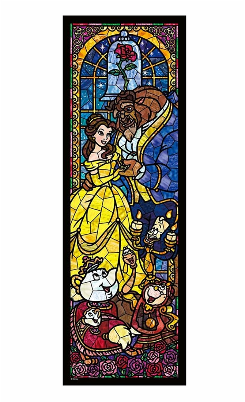 Tenyo Disney Beauty & the Beast Stained Glass Puzzle 456 pieces | Merchandise