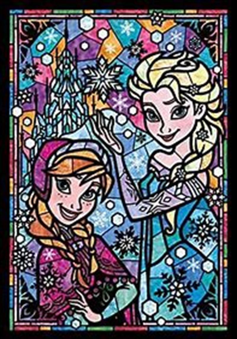 Tenyo Disney Frozen Anna & Elsa Stained Glass Puzzle 266 pieces | Merchandise