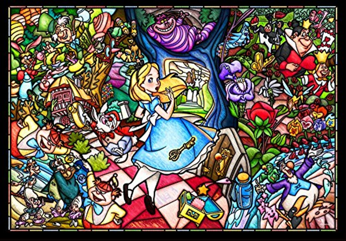 Alice In Wonderland Stained Glass 500 Piece Puzzle   Merchandise