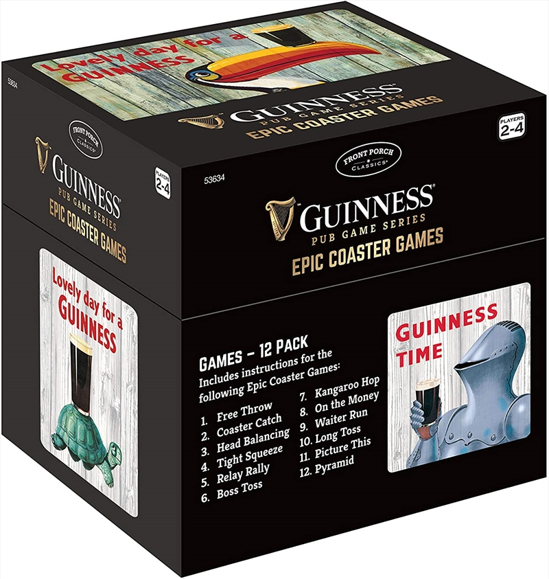 Guinness Epic Coaster Games Board Games, Merchandise | Sanity