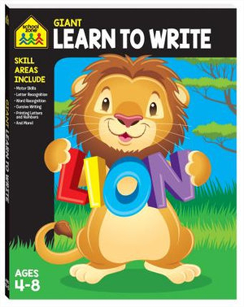 Giant Workbook Learn To Write   Paperback Book