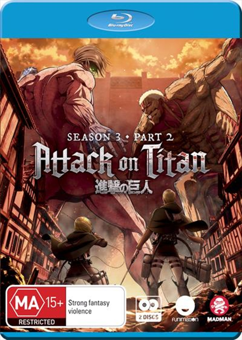 Attack On Titan - Season 3 - Part 2 - Eps 50-59 | Blu-ray