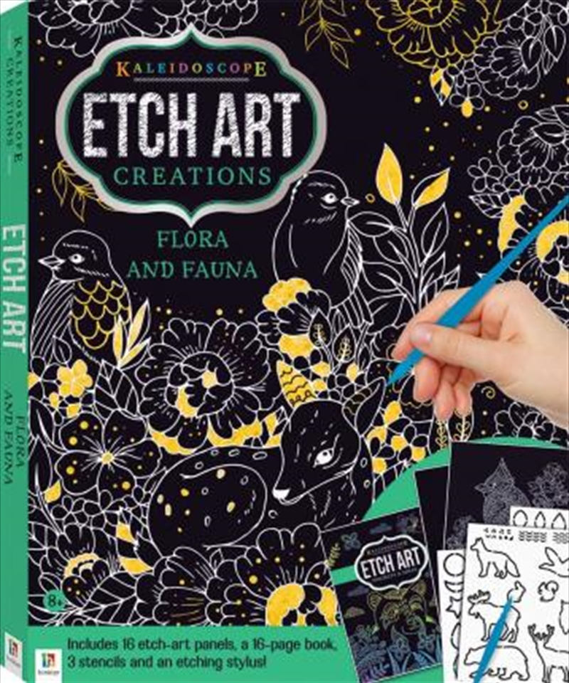Etch Art Creations Kit: Flora and Fauna | Books