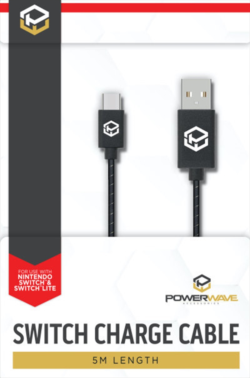 Powerwave Switch Type C to USB Charge Cable | Nintendo Switch