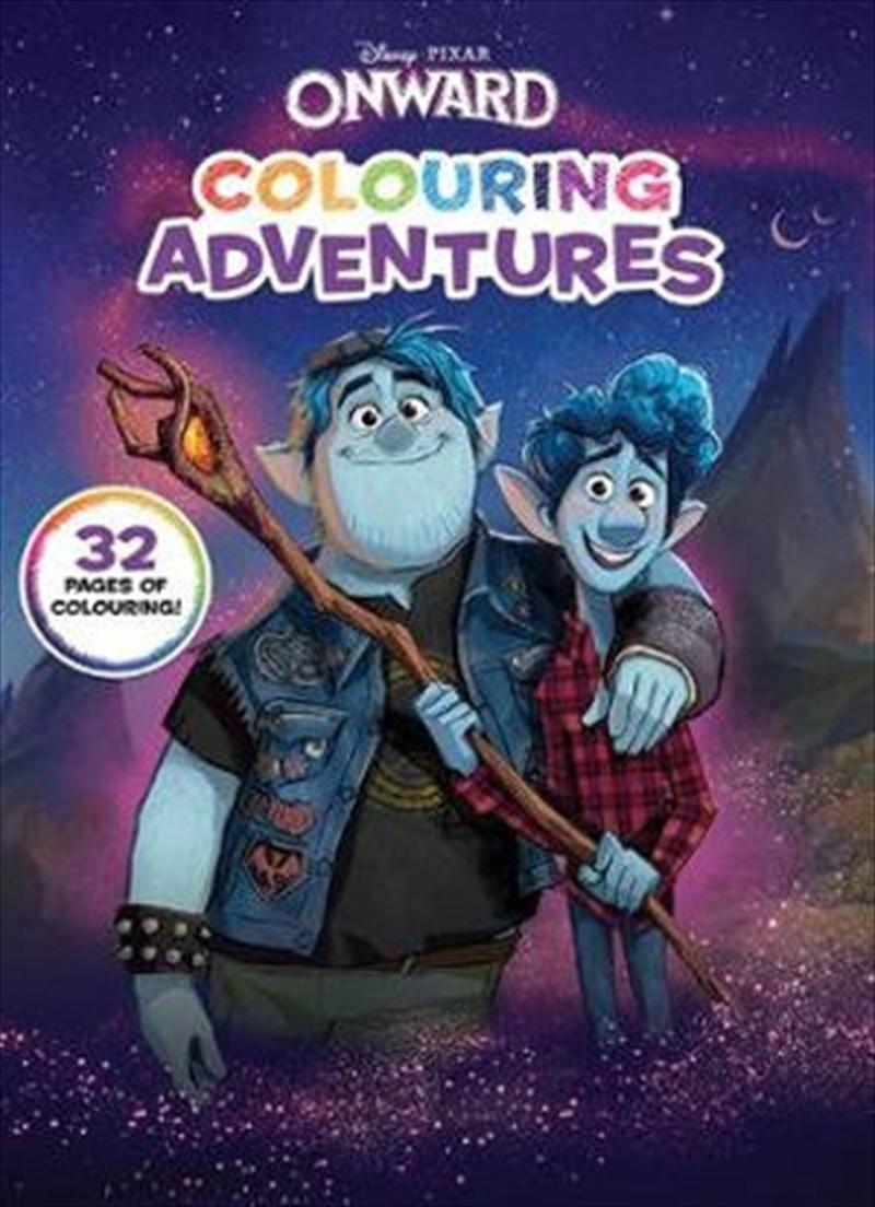 Onward Colouring Adventures (Disney-Pixar) | Hardback Book