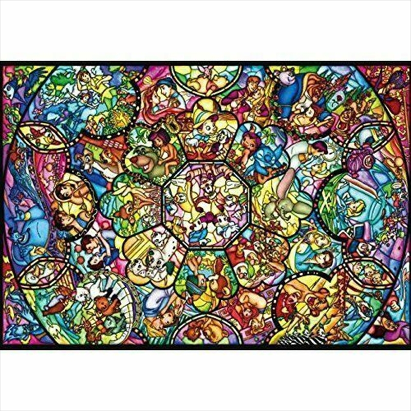 All Star Disney Stained Glass 266 Piece Puzzle | Merchandise