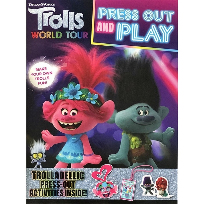 Trolls World Tour: Press Out and Play DreamWorks | Paperback Book