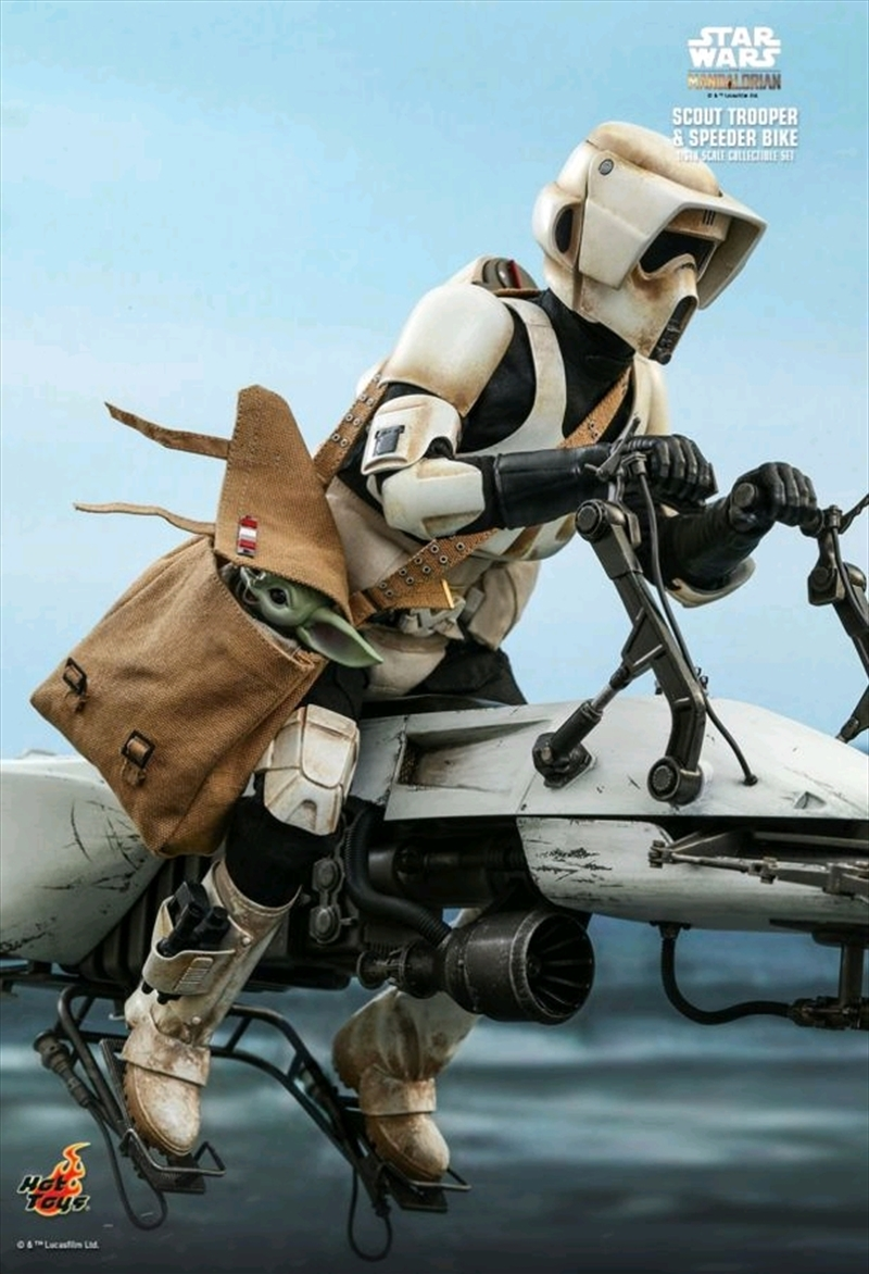 Star Wars: The Mandalorian - Scout Trooper & Speeder Bike 1:6 Scale Action Figure Set | Merchandise
