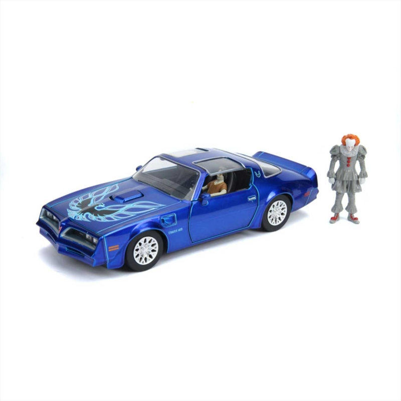 It (2017) - 1977 Pontiac Firebird 1:24 with Pennywise Figure Hollywood Ride | Merchandise
