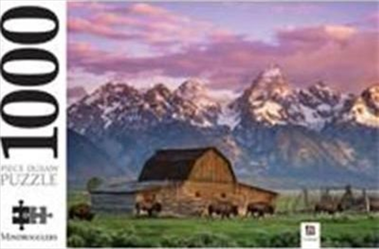 Moultan Barn Wyoming USA 1000 Piece Jigsaw Puzzle | Merchandise