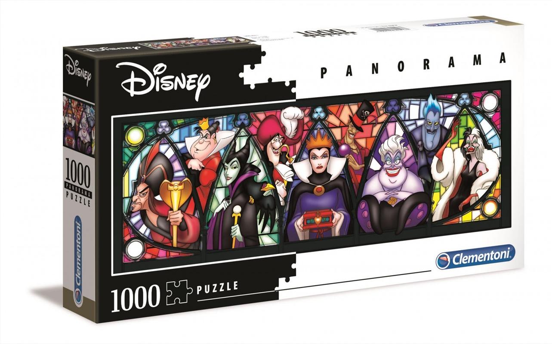 Disney Puzzle Villains Panorama 1000 Pieces Puzzle   Merchandise