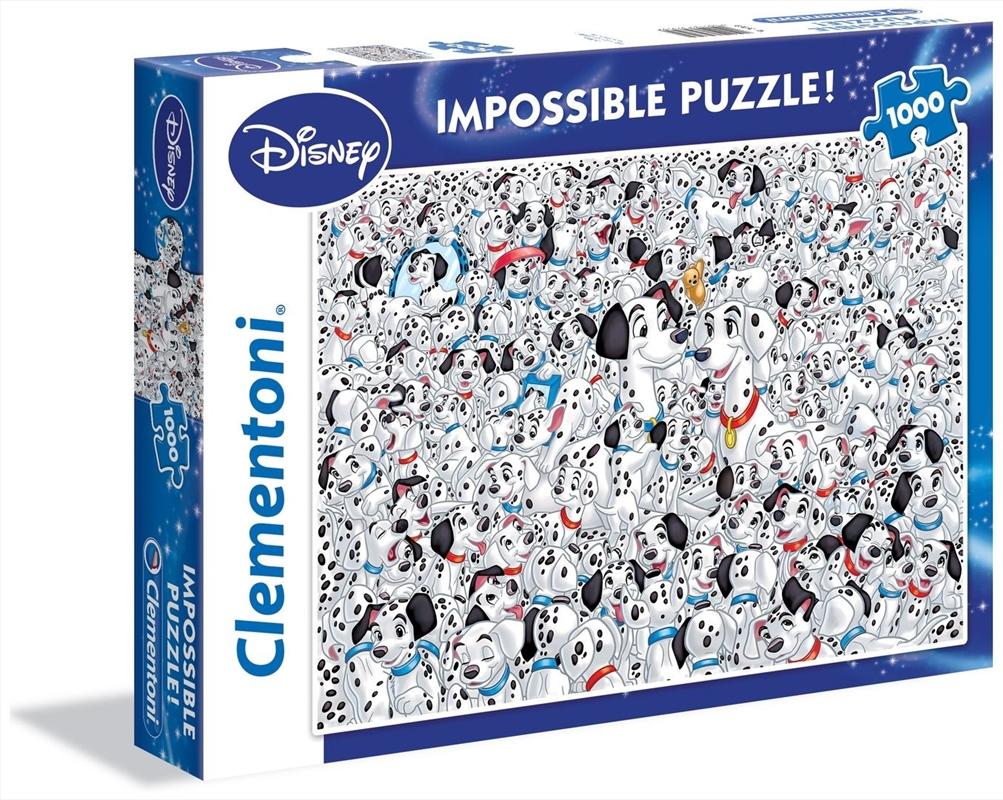 Disney Puzzle 101 Dalmatians Impossible Puzzle 1000 Pieces | Merchandise