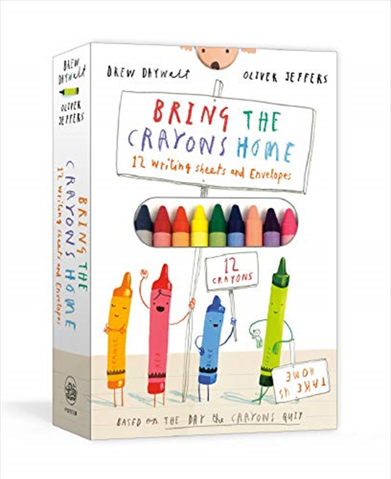 Bring The Crayons Home: A Box Of Crayons, Letter-writing Paper, And Envelopes | Hardback Book