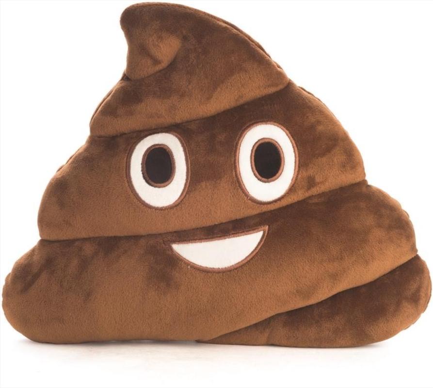 Velour Cushion Poo | Homewares