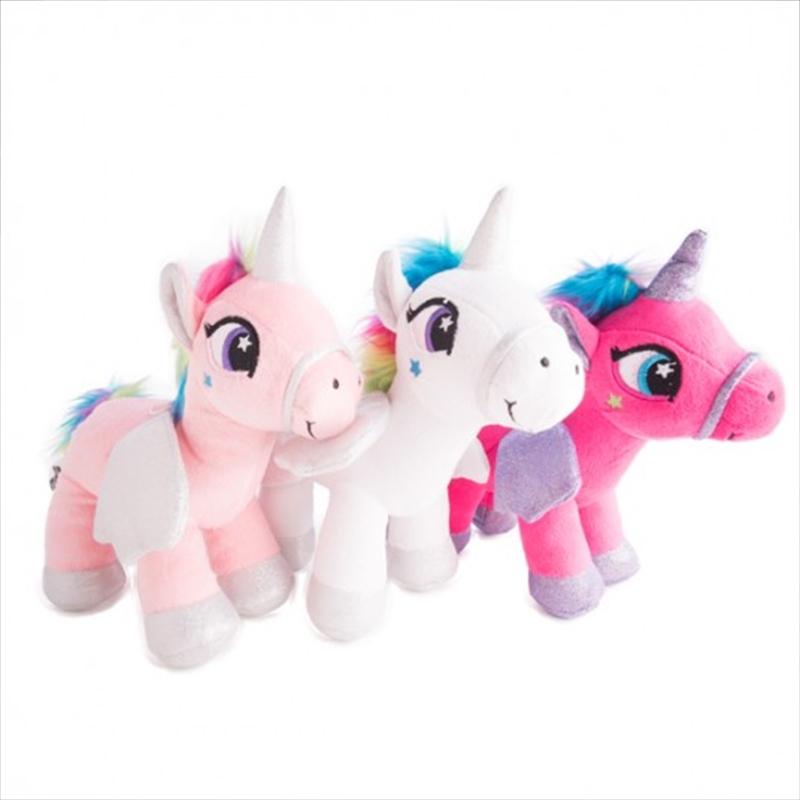 Plush Standing Unicorn 3 Assorted | Homewares