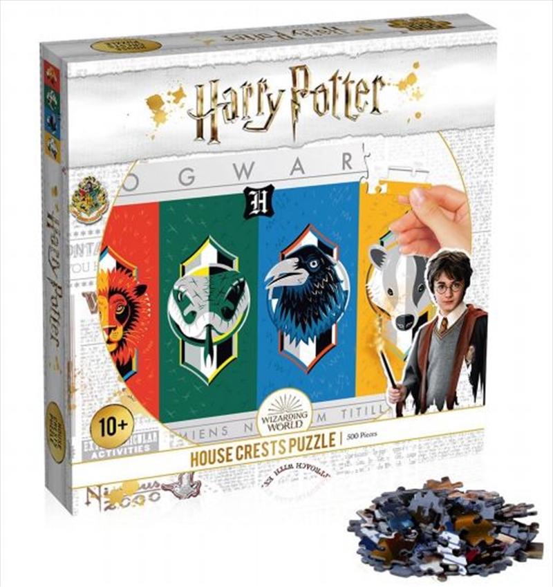 Harry Potter - House Crests 500 Piece Puzzle | Merchandise