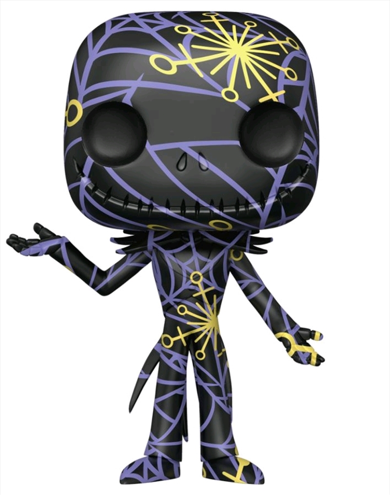 The Nightmare Before Christmas - Jack (Artist) Black & Yellow US Exc Pop! with Protector [RS]   Pop Vinyl