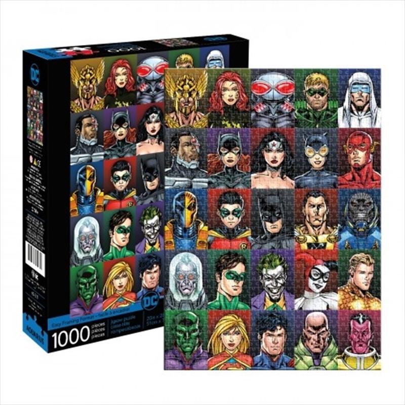 DC Comics Faces 1000 Piece Puzzle | Merchandise