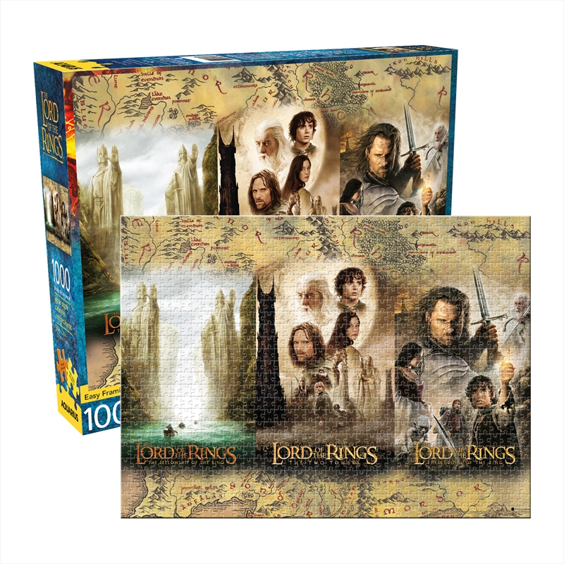 Lord Of The Rings Triptych 1000 Piece Puzzle | Merchandise