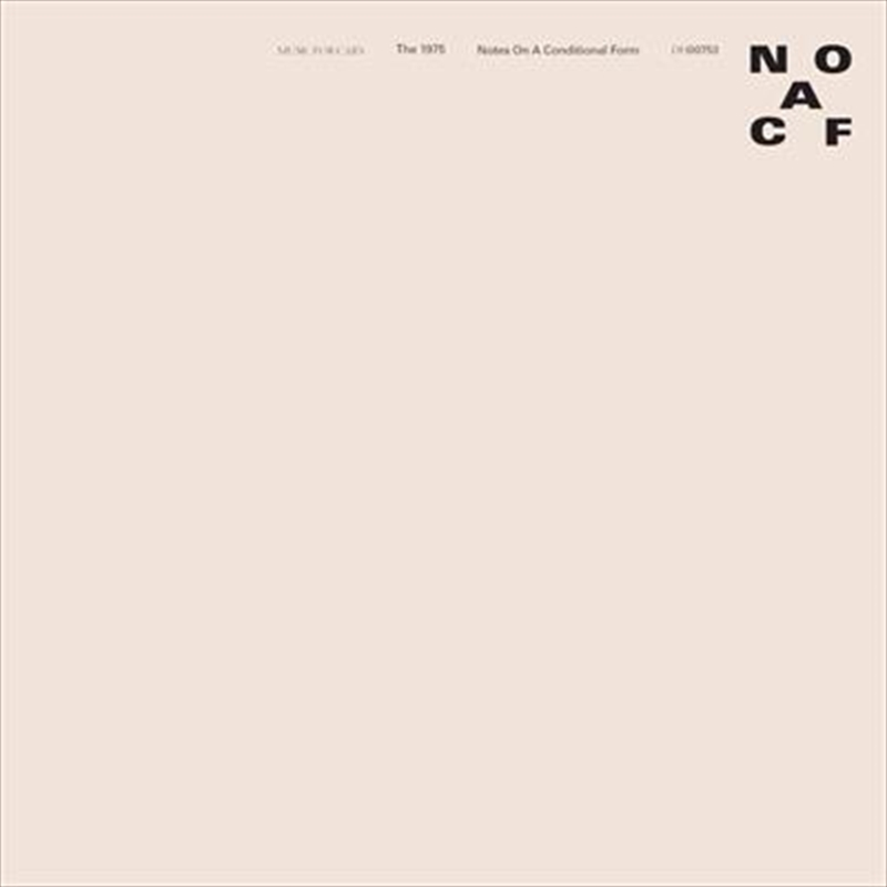 Notes On A Conditional Form - Pure Clear Vinyl | Vinyl