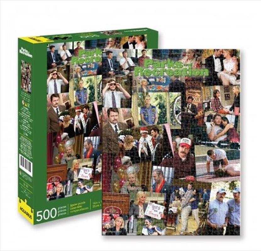 Parks And Recreation Collage 500 Piece Puzzle   Merchandise