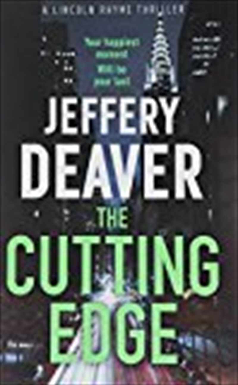 The Cutting Edge (lincoln Rhyme Thrillers) | Paperback Book