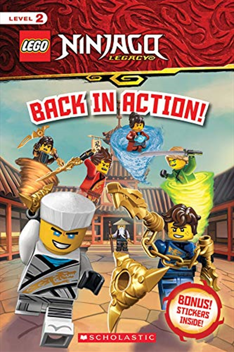 Back In Action! (lego Ninjago: Reader With Stickers)   Hardback Book
