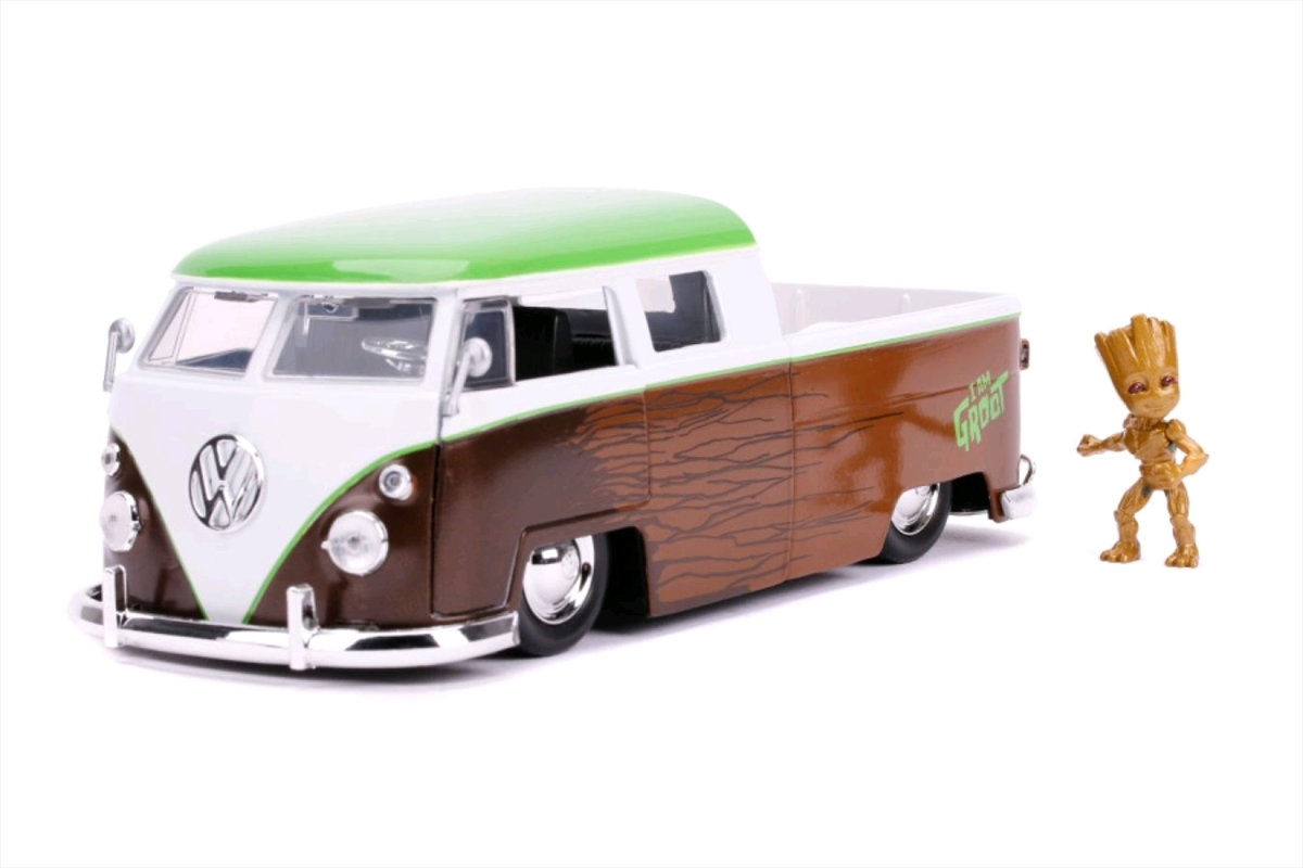 Guardians of the Galaxy: Vol. 2 - 1962 Volkswagon Bus with Groot 1:24 Scale Hollywood Ride   Merchandise