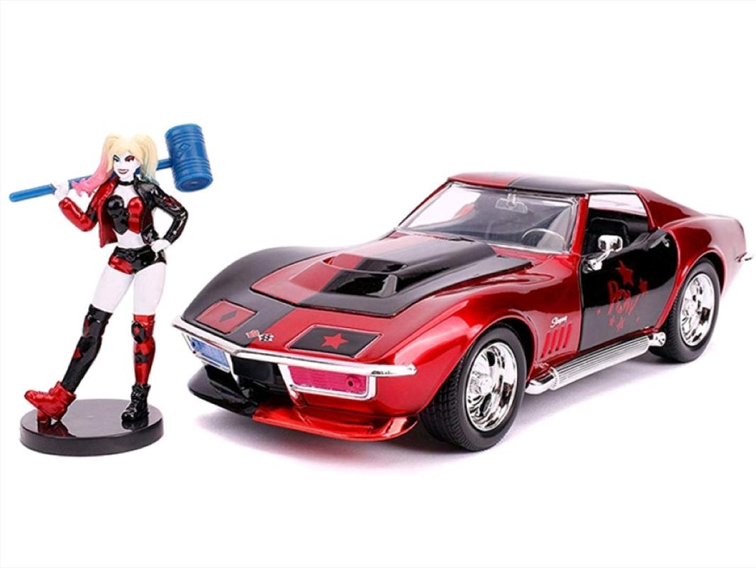 Batman - Harley Quinn 69 Corvette 1:24 Scale Hollywood Ride | Merchandise