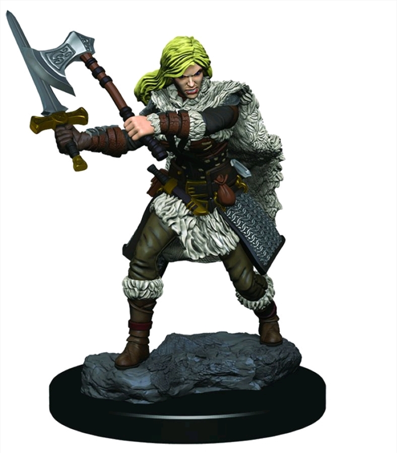 Dungeons & Dragons - Icons of the Realms Female Human Barbarian Premium Miniature   Games