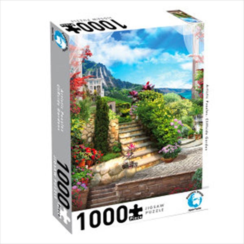 Puzzlers World - Artistic Puzzles Cliffside Garden - 1000 Piece Jigsaw Puzzle   Merchandise