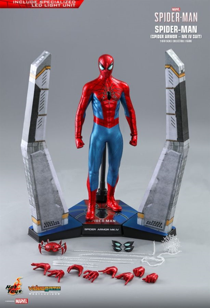 """SpiderMan (Video Game 2019) - Spider Armor Mark IV 1:6 Scale 12"""" Action Figure 