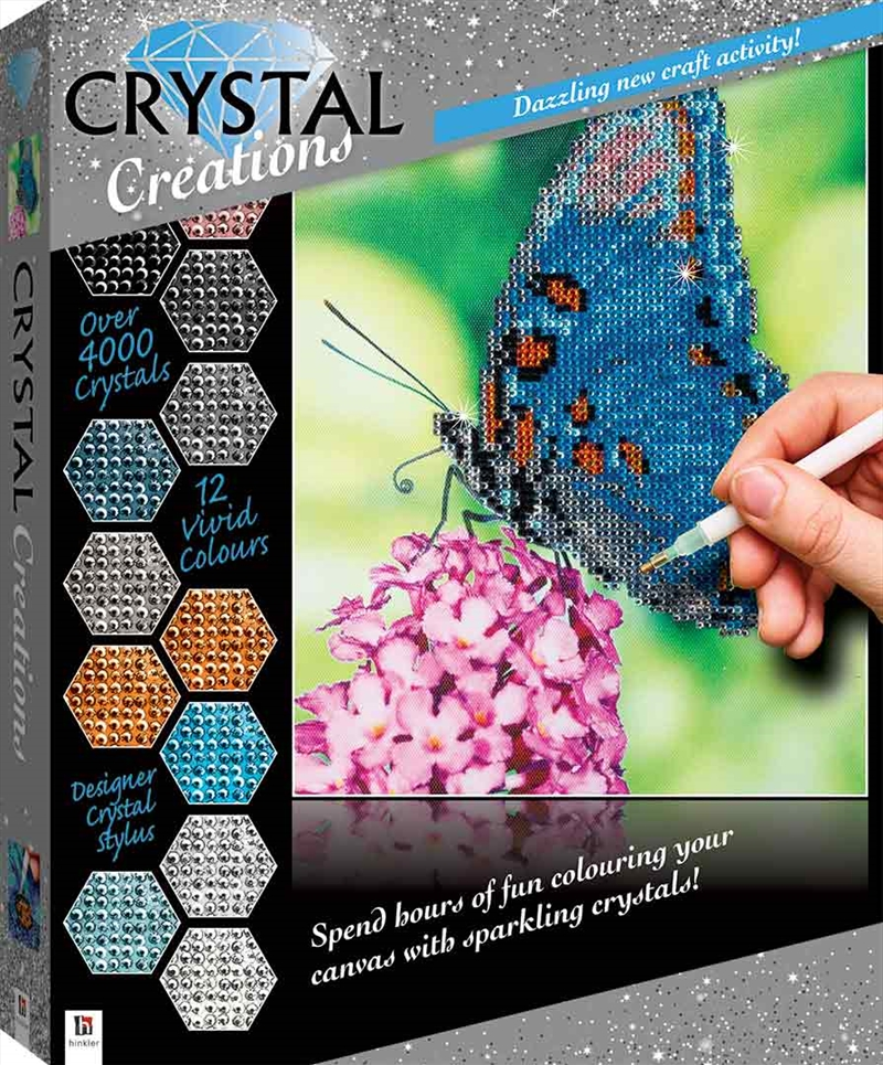 Crystal Creations: Butterfly | Colouring Book