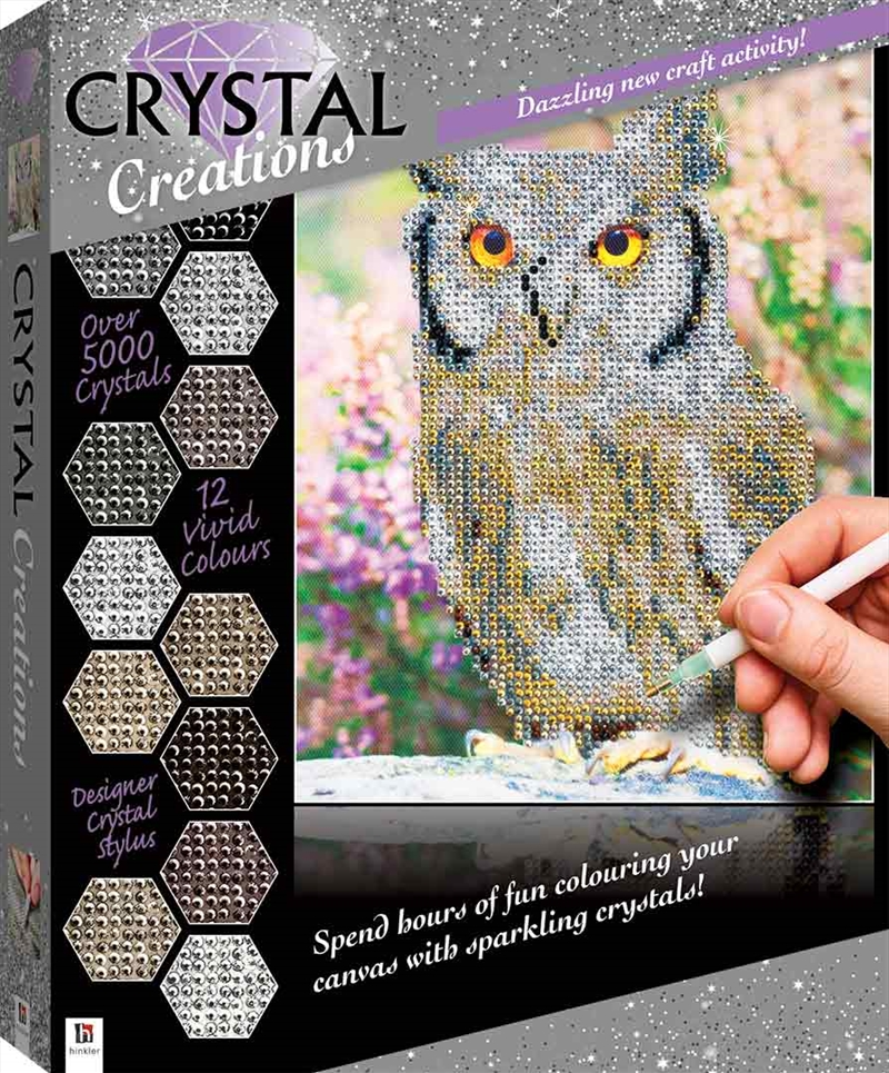 Crystal Creations: Owl | Colouring Book