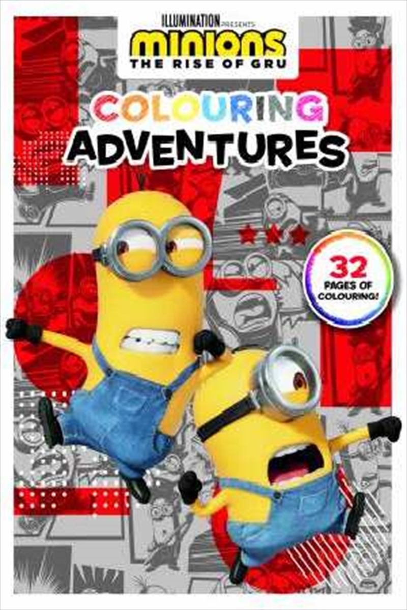 Minions The Rise Of Gru: Colouring Adventures | Paperback Book