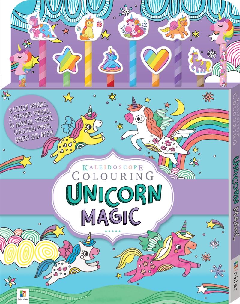Unicorn Magic 10 Pencil Set | Colouring Book