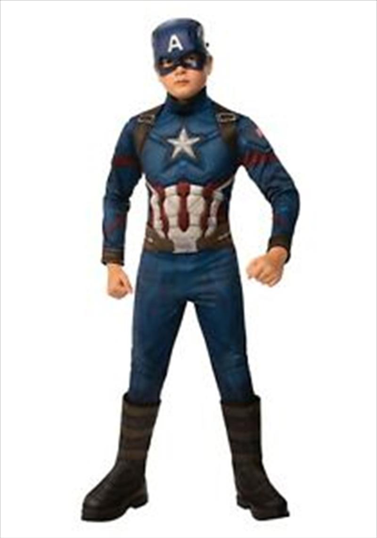 Kids Avengers: Endgame Deluxe Captain America Costume: 3-4   Apparel