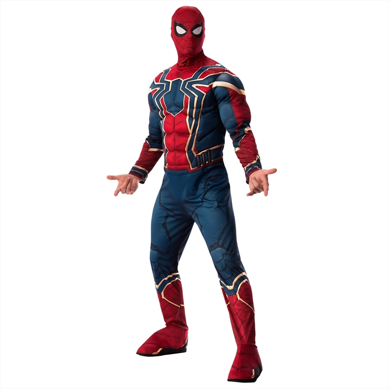 Avengers Endgame Iron Spider-Man Halloween Costume Padded Muscles Suit Adult STD | Apparel