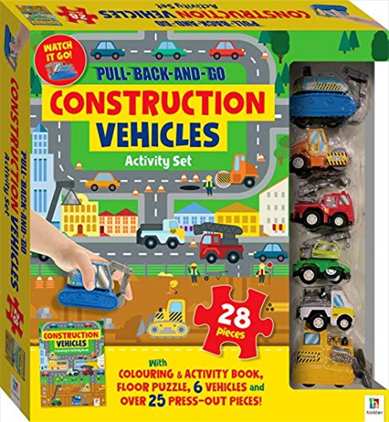 Pull-back-and-go: Construction Vehicles | Books