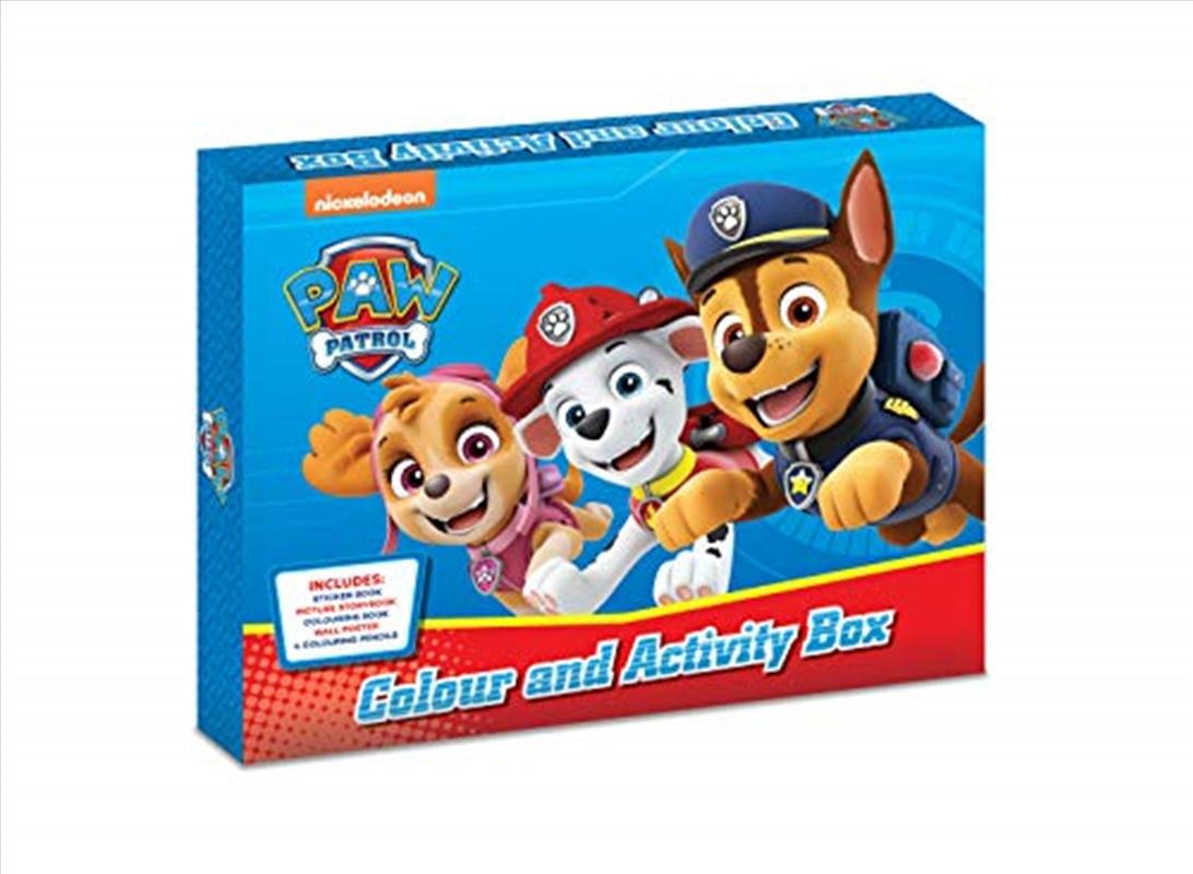 Paw Patrol Colour And Activity Box | Hardback Book