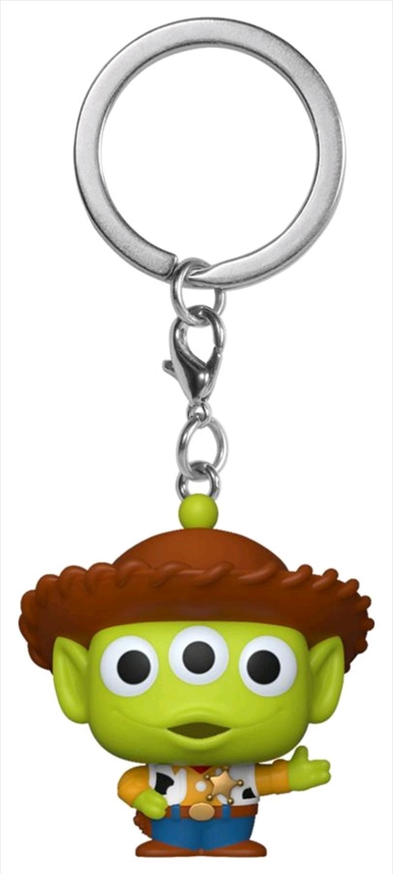 Pixar - Alien Remix Woody Pocket Pop! Keychain   Pop Vinyl