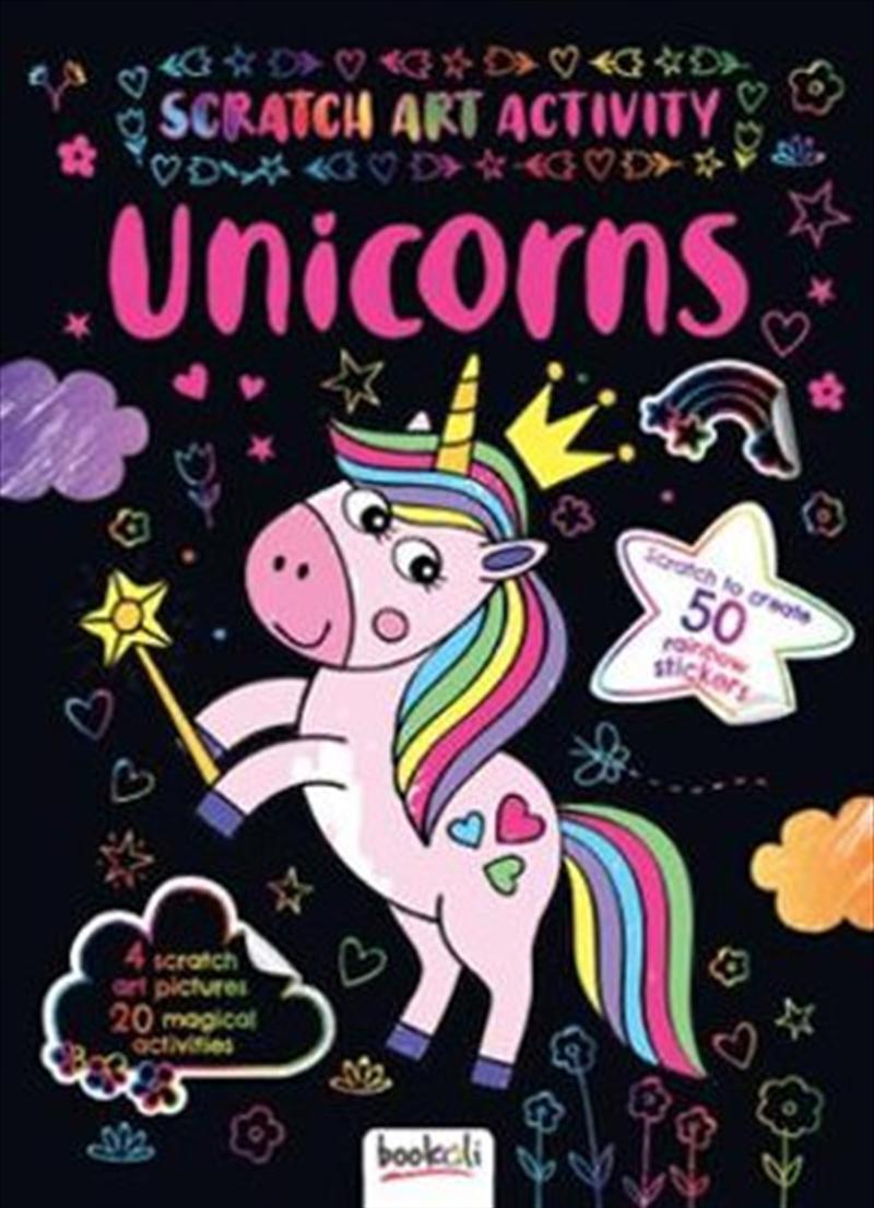 Scratch Art Activity: Unicorns | Colouring Book