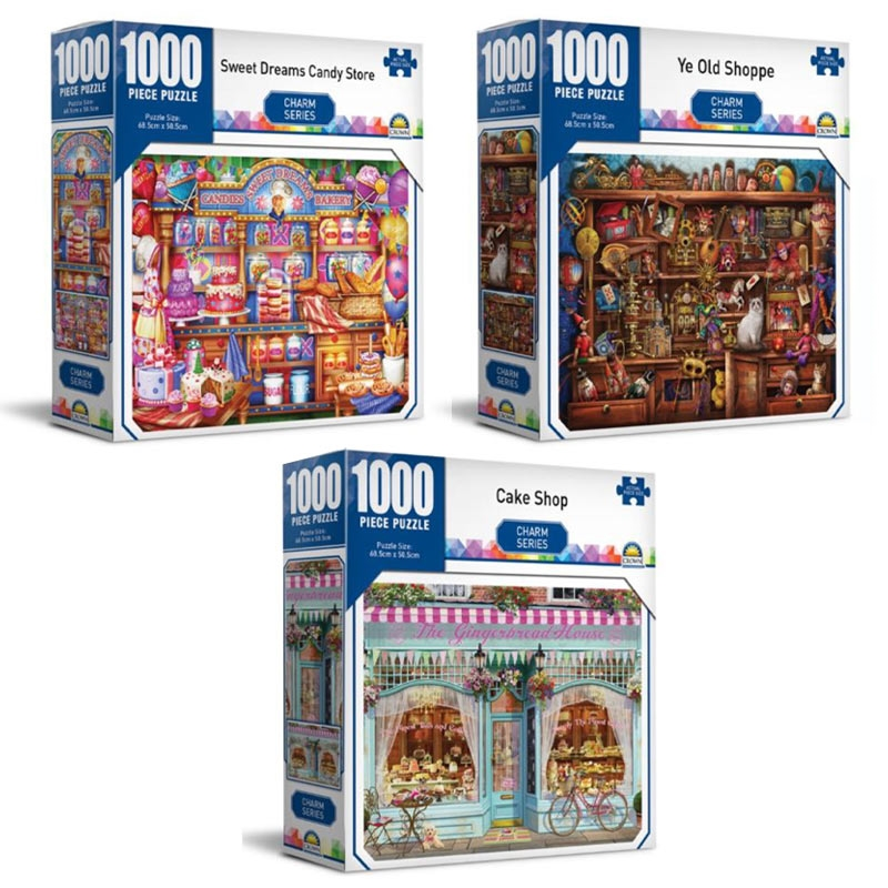 Charm Series  - Crown 1000 Piece Puzzle (SELECTED AT RANDOM) | Merchandise