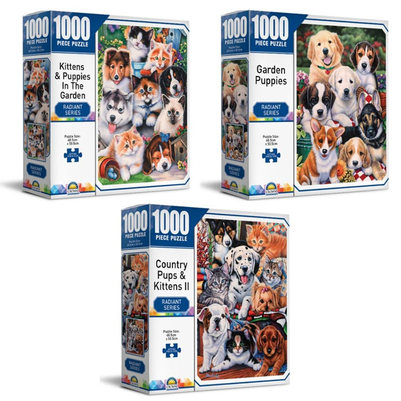 Radiant Series - Crown 1000 Piece Puzzle (SELECTED AT RANDOM)   Merchandise