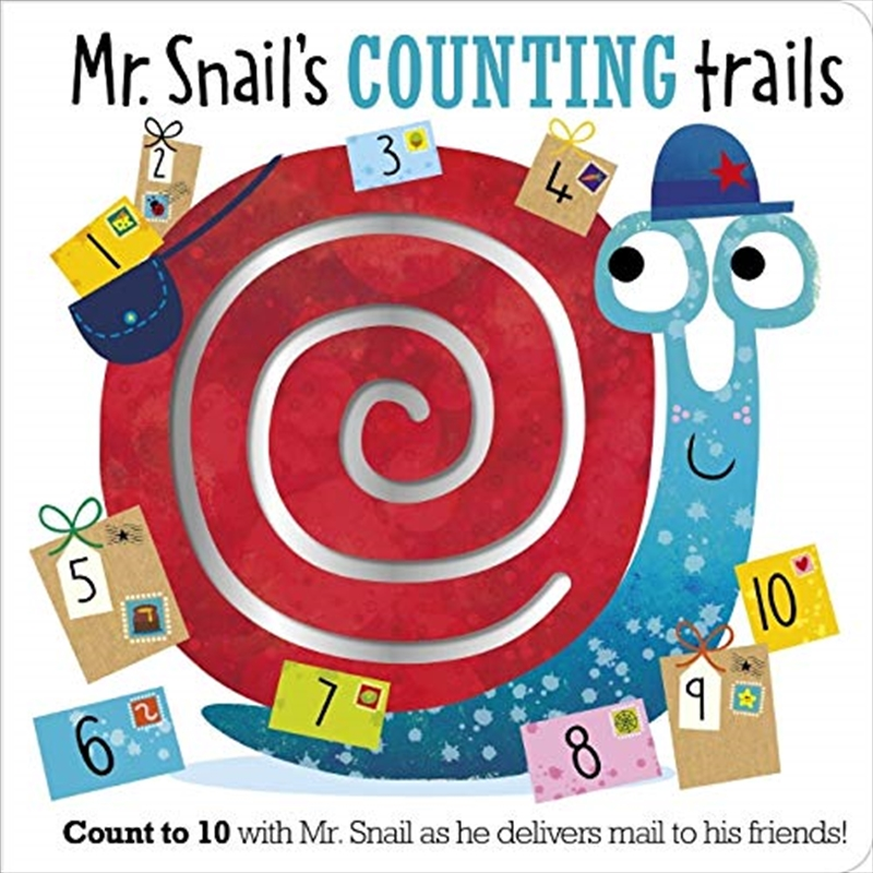 Mr. Snail's Counting Trails | Board Book