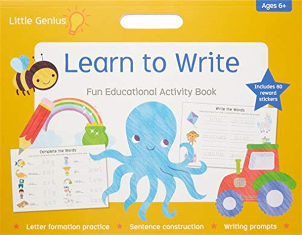 Little Genius Mega Pad Learn To Write | Paperback Book