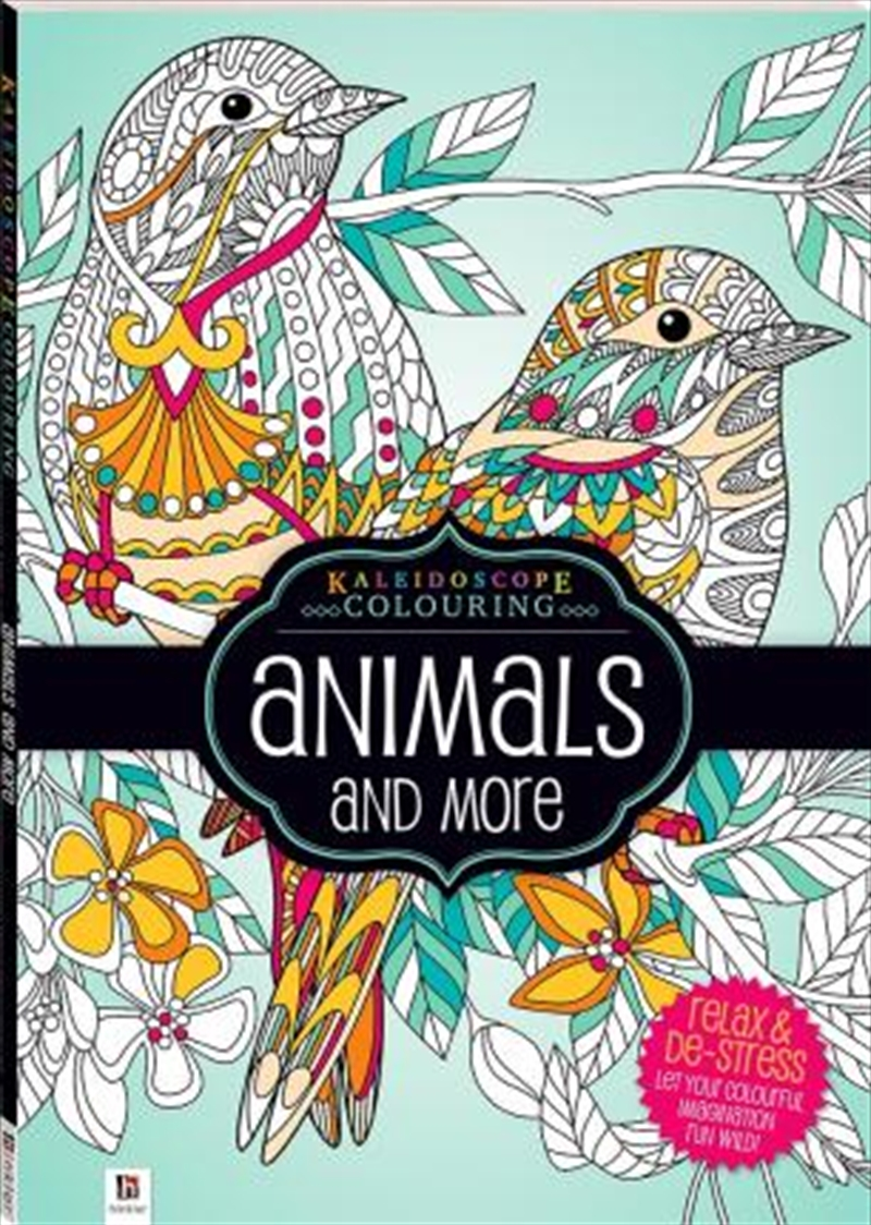 Kaleidoscope Colouring: Animals and More | Colouring Book