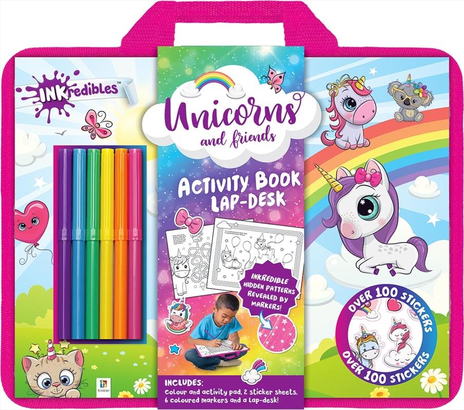 Unicorns Book Lap Desk | Colouring Book