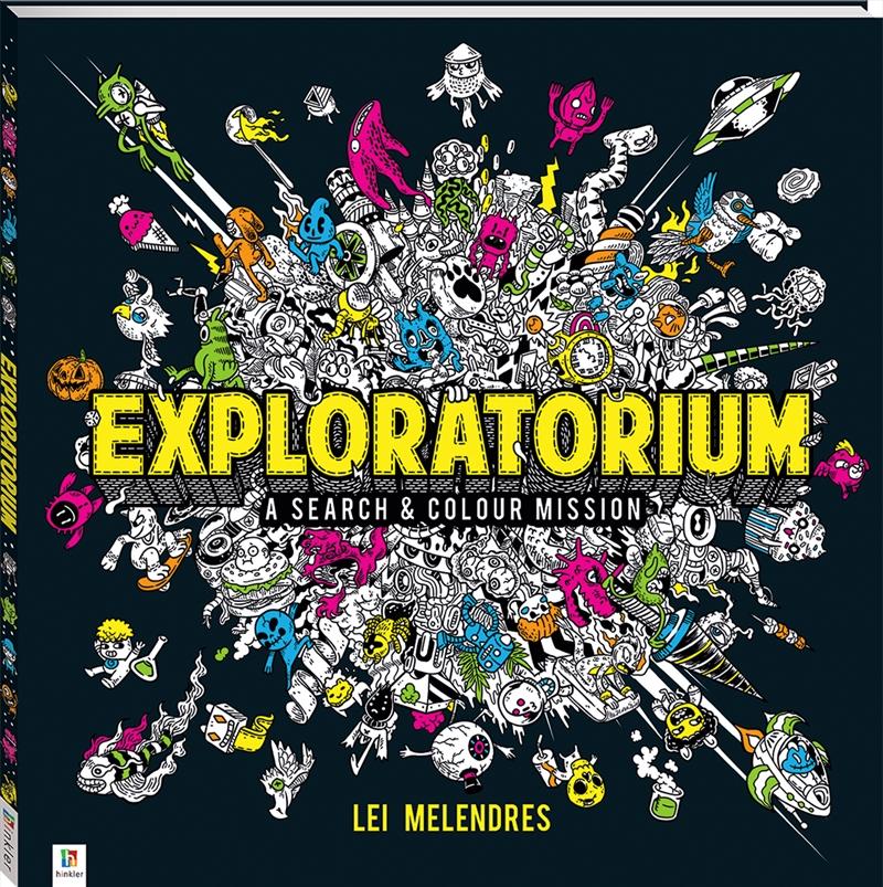 Exploratorium: A Search and Colour Mission | Colouring Book