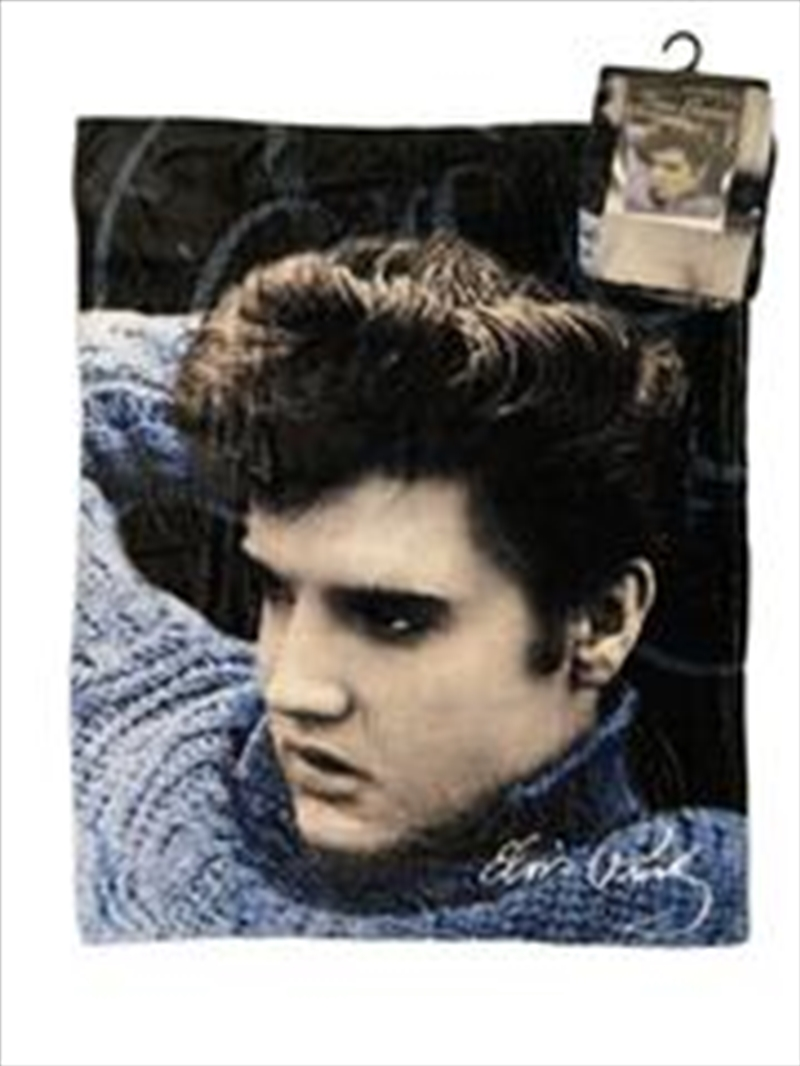 Elvis Throw Over Blue | Merchandise